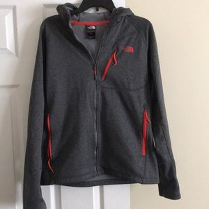 North face zip up fleece hoodie